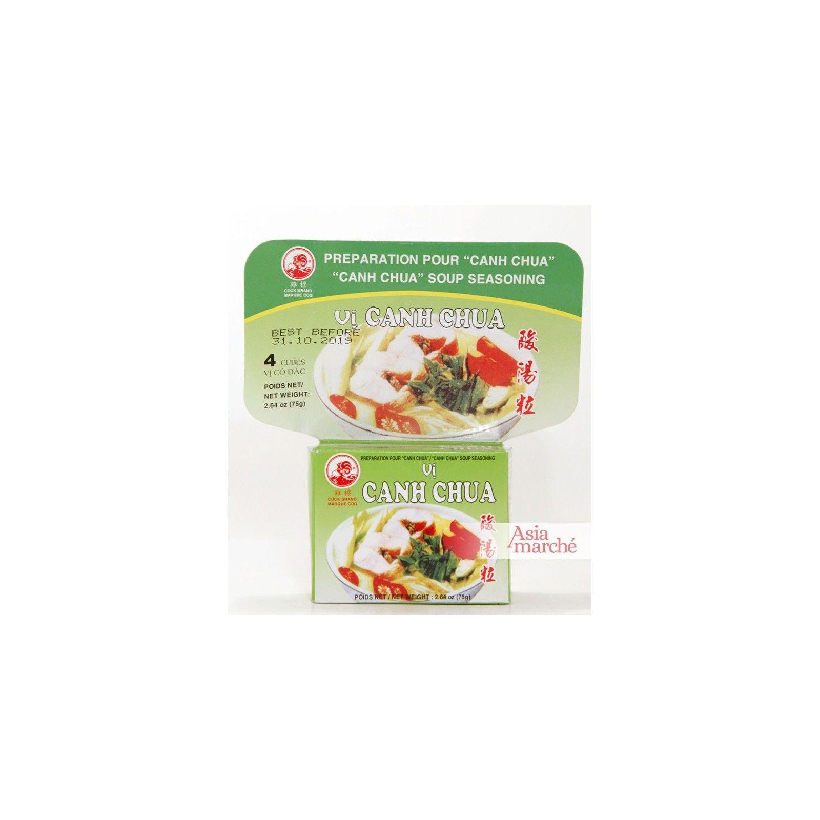 Asia Marché Epices en cube pour Canh Chua 75g