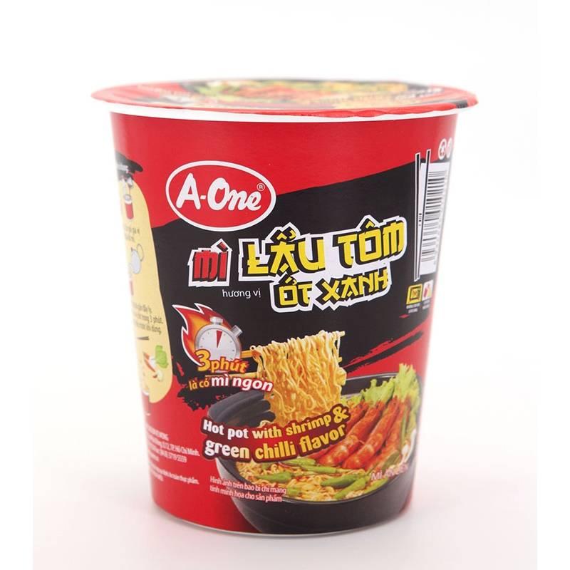 Asia Marché Soupe de nouilles en bol épicée à la crevette 65g A-One
