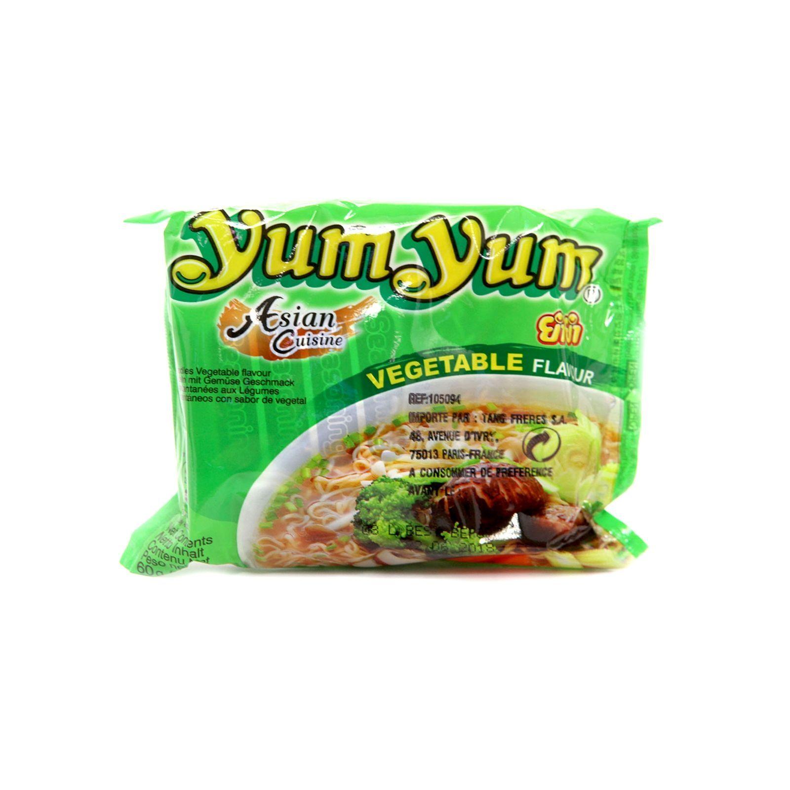 Asia Marché Soupe de nouilles aux légumes 60g YumYum Lot de 30