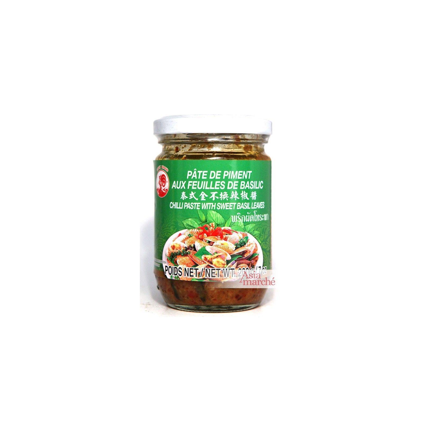 Asia Marché Pâte de piment au basilic 200g Coq