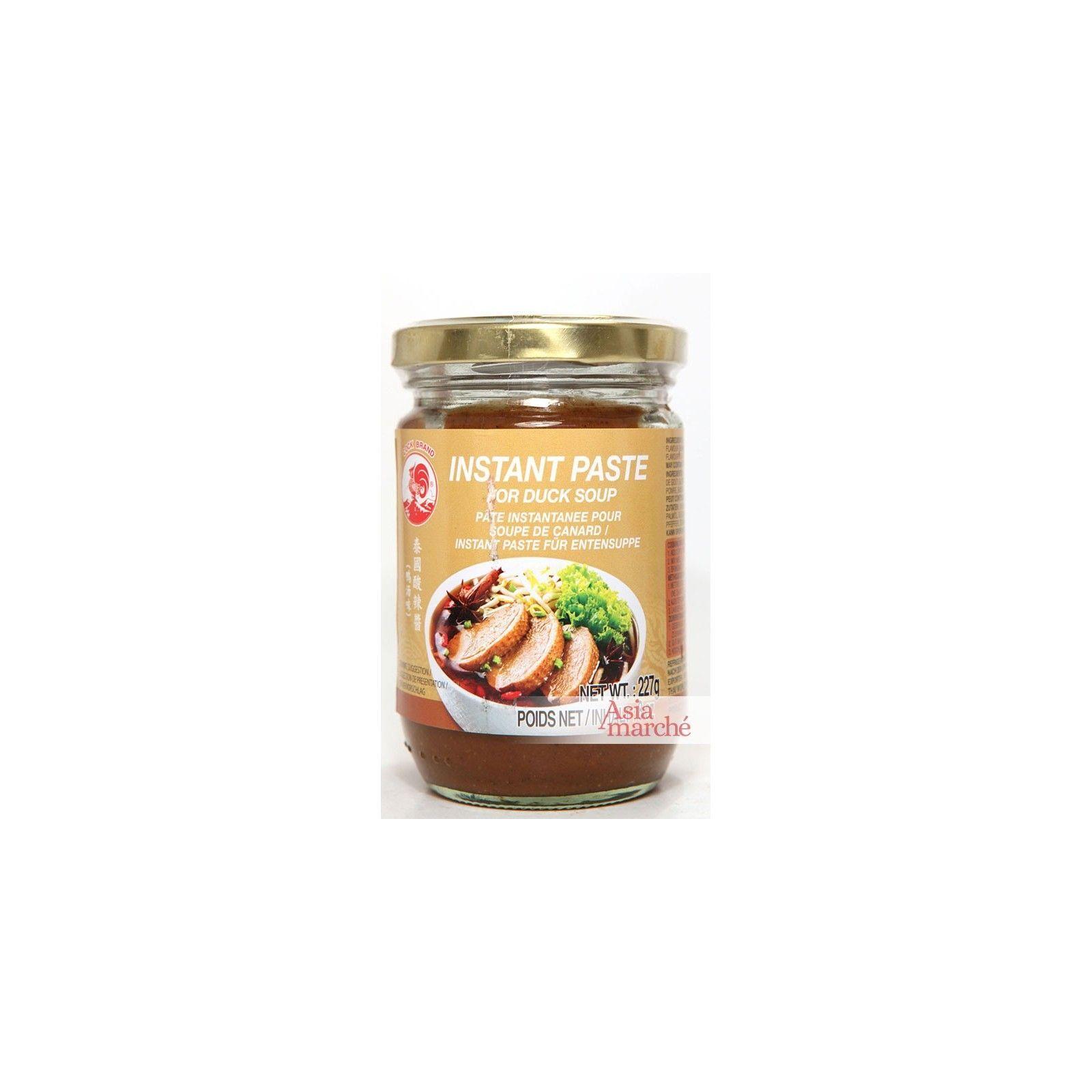Asia Marché Pâte pour Bouillon de soupe de canard 227g Coq