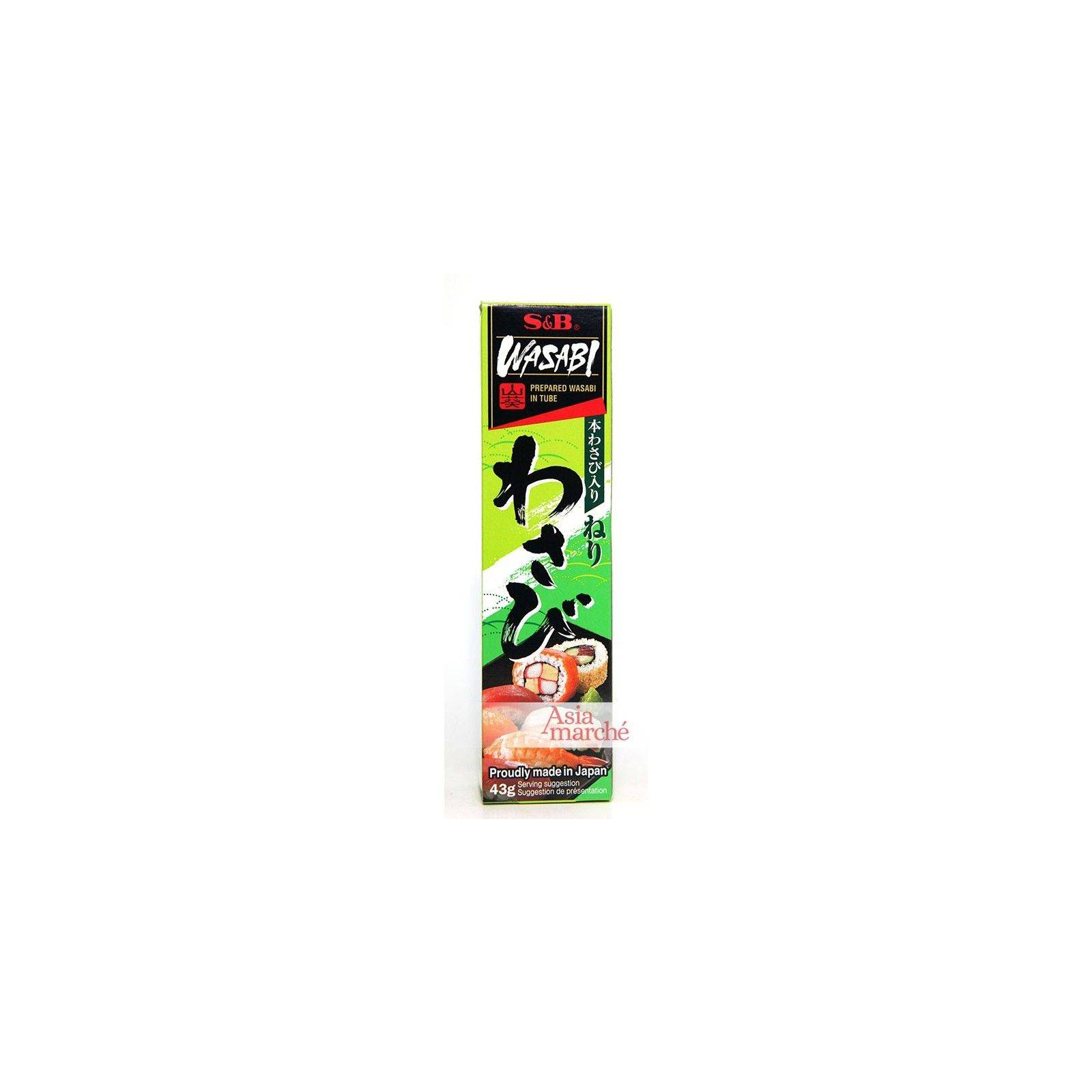 Asia Marché Wasabi en tube S&B; 43g