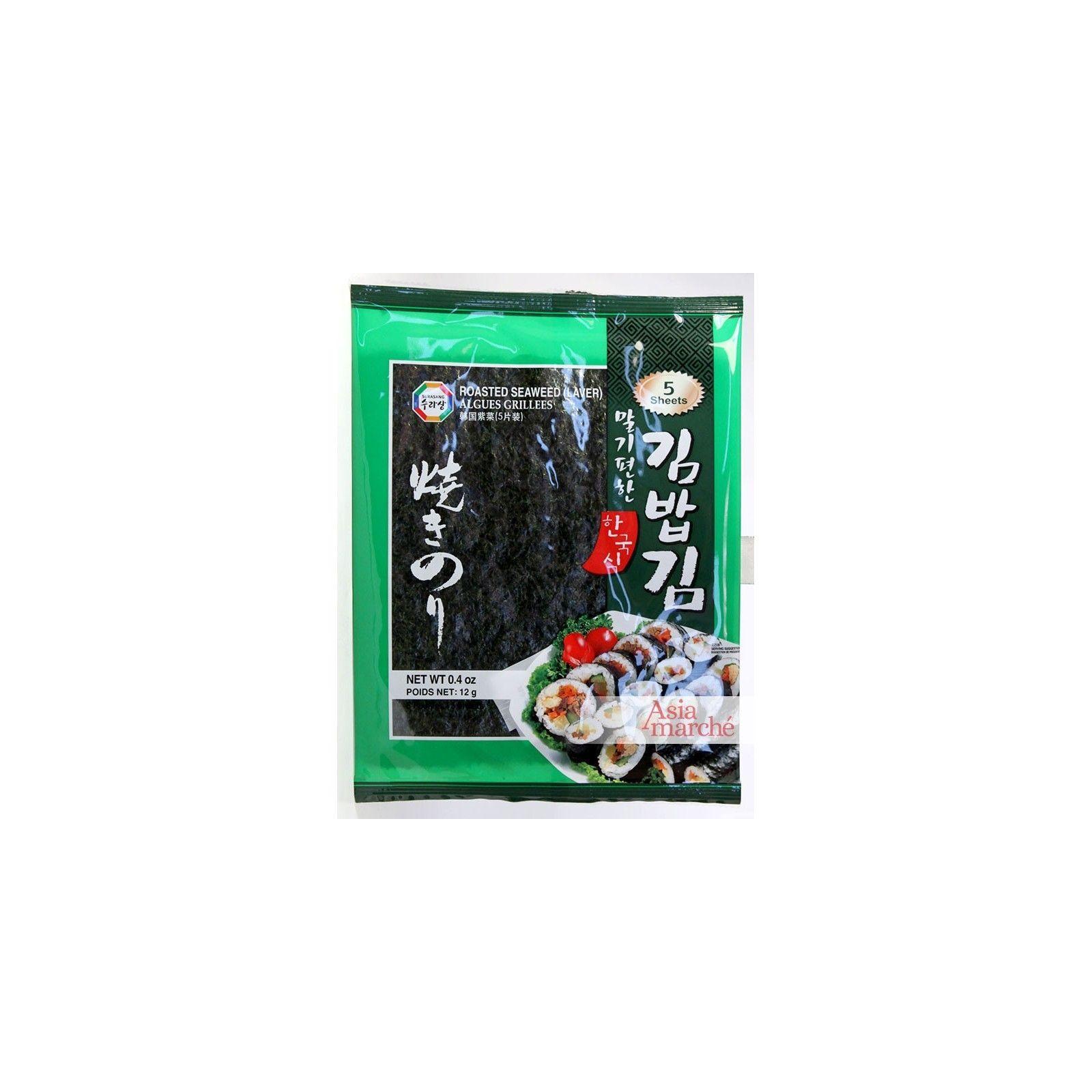 Asia Marché Feuilles d'algues pour Makis 5 feuilles  12g