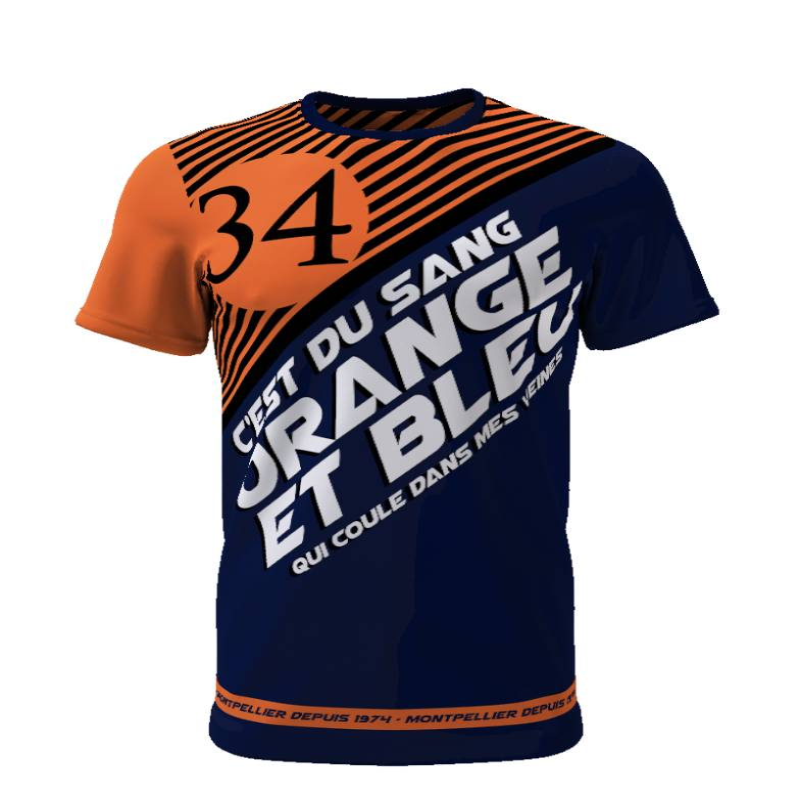 Tribune FC C\'est du sang orange et bleu qui coule dans mes veines - Supporters Montpellier - Tribune FC