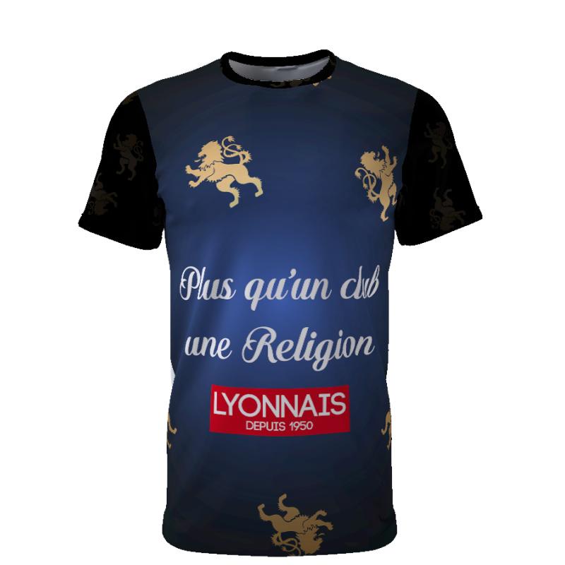 Tribune FC Plus qu\'un club, une religion, Lyonnais depuis 1950 - Supporters Lyon - Tribune FC
