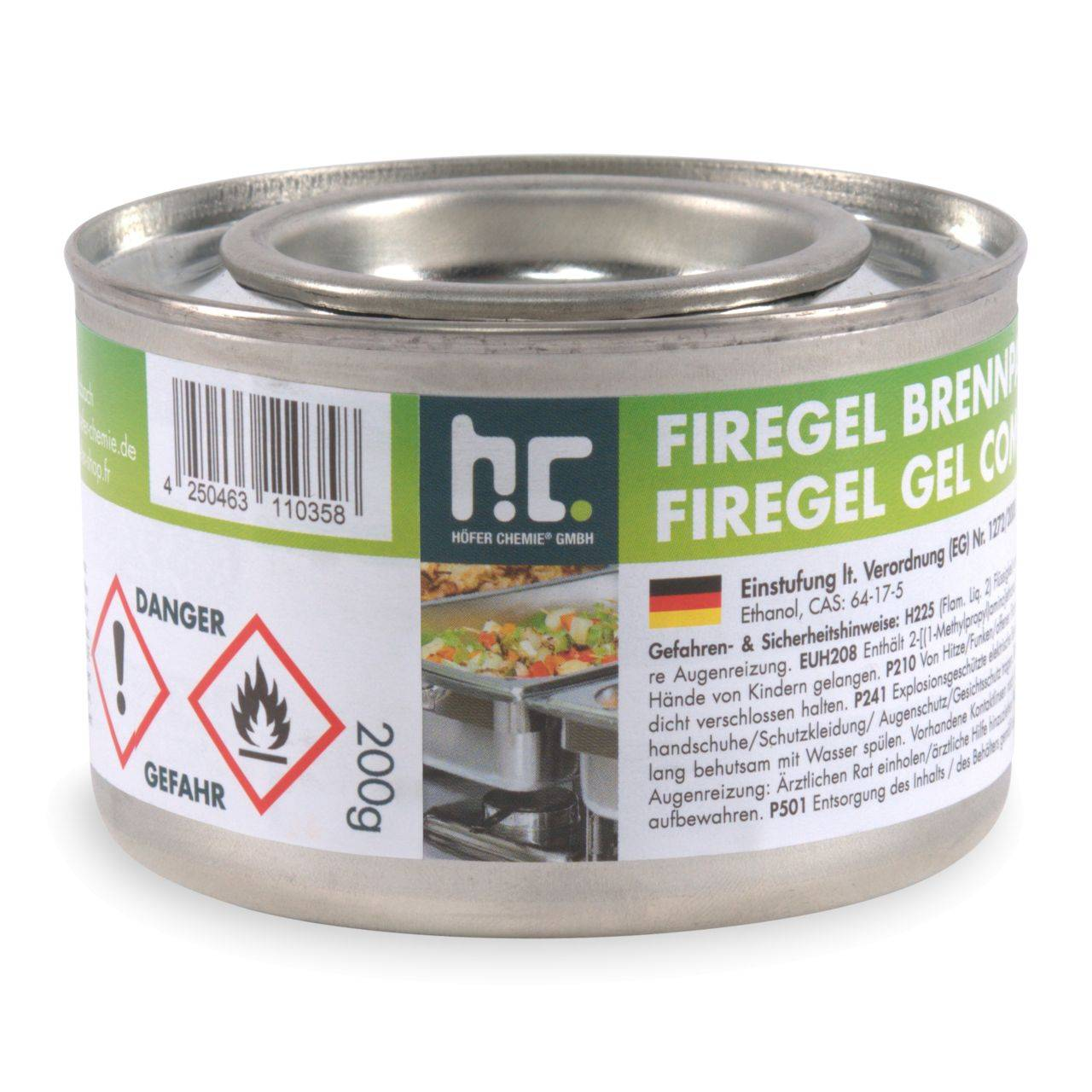 Höfer Chemie 1,2 kg 200g gel combustible (6 x 200g)