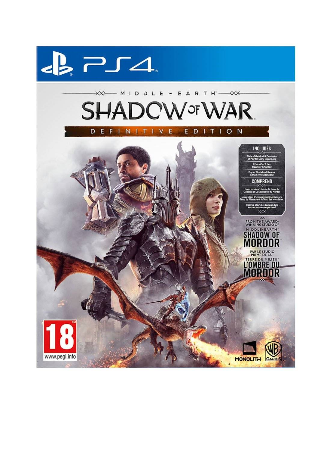 warner bros Middle Earth: Shadow of War (Definitive Edition) - PS4 -
