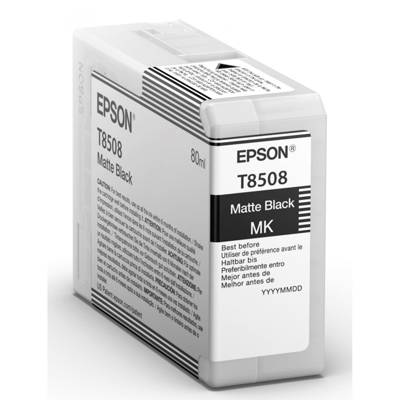 EPSON Cartouche d'encre traceur EPSON SC-P800 - Noir Mat - 80ml - T8508
