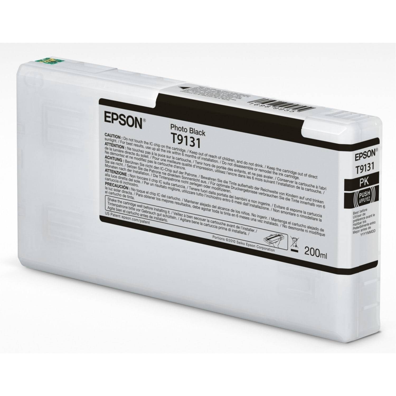 EPSON Cartouche d'encre traceur EPSON SC-P5000 - Noir Photo - 200ml - T9131