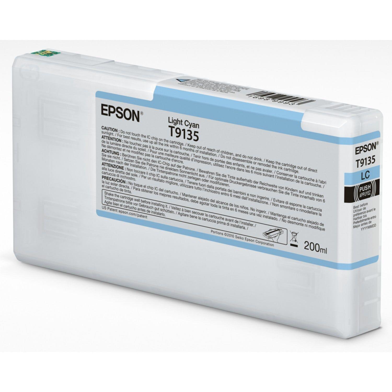 EPSON Cartouche d'encre traceur EPSON SC-P5000 - Cyan Clair - 200ml - T9135