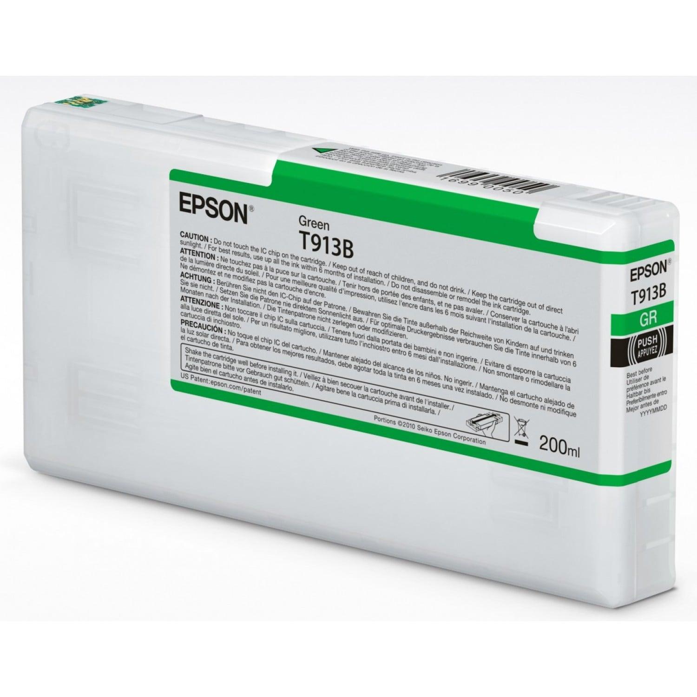 EPSON Cartouche d'encre traceur EPSON SC-P5000 - Vert - 200ml - T913B