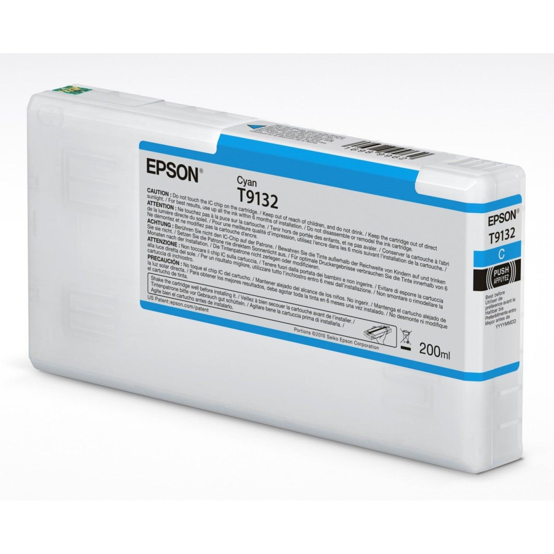 EPSON Cartouche d'encre traceur EPSON SC-P5000 - Cyan - 200ml - T9132