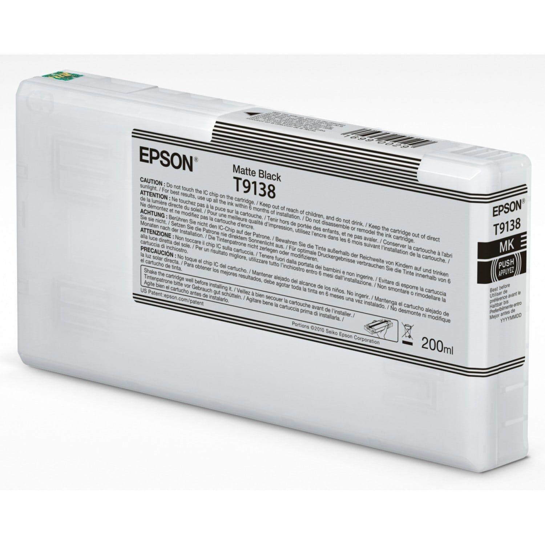 EPSON Cartouche d'encre traceur EPSON SC-P5000 - Noir Mat - 200ml - T9138
