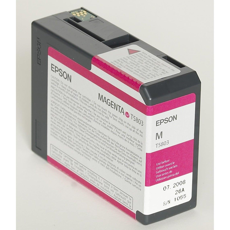 EPSON Cartouche d'encre traceur EPSON T5803 Pour imprimante 3800/3880 Magenta - 80ml