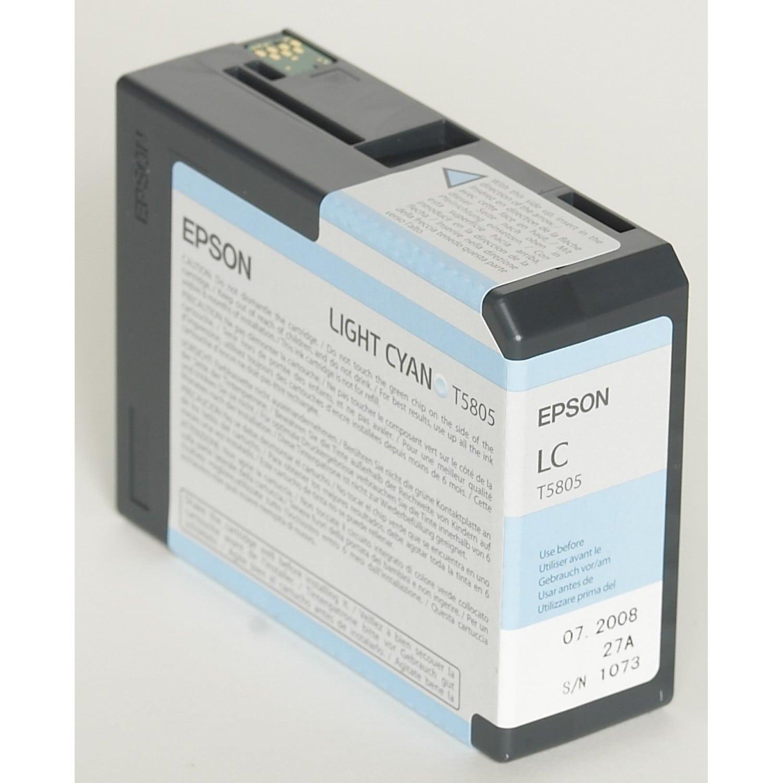 EPSON Cartouche d'encre traceur EPSON T5805 Pour imprimante 3800/3880 Cyan clair - 80ml