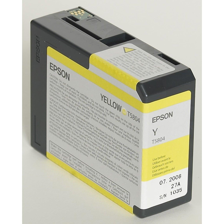 EPSON Cartouche d'encre traceur EPSON T5804 Pour imprimante 3800/3880 Jaune - 80ml