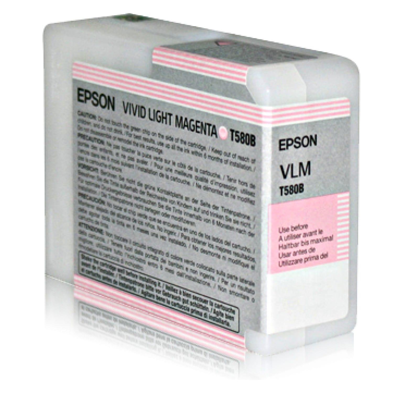 EPSON Cartouche d'encre traceur EPSON T580B Pour imprimante 3880 Vivid Magenta clair - 80 ml