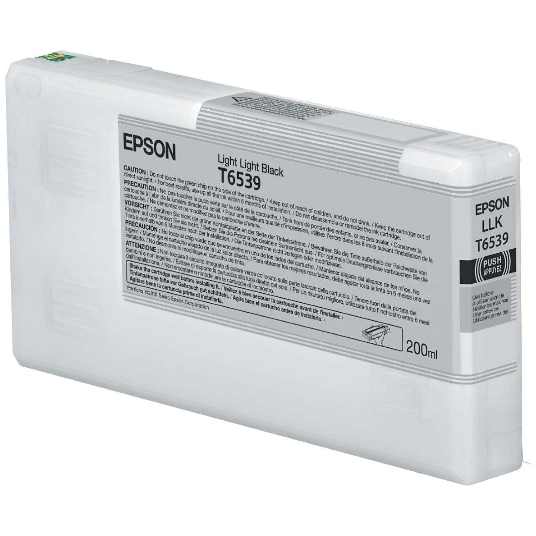 EPSON Cartouche d'encre traceur EPSON T6539 Pour imprimante 4900 Gris clair - 200ml