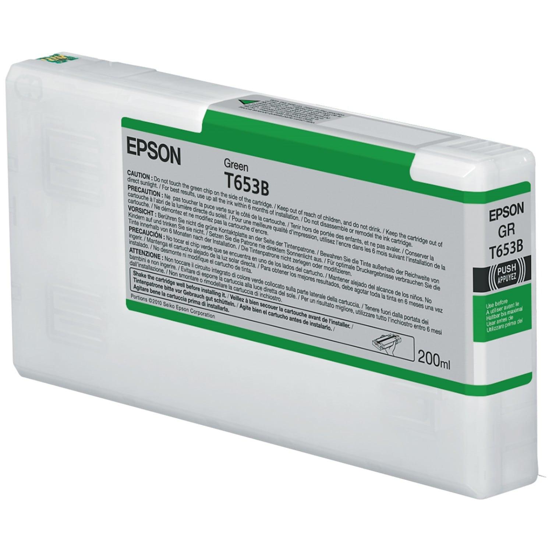 EPSON Cartouche d'encre traceur EPSON T653B Pour imprimante 4900 Vert - 200ml