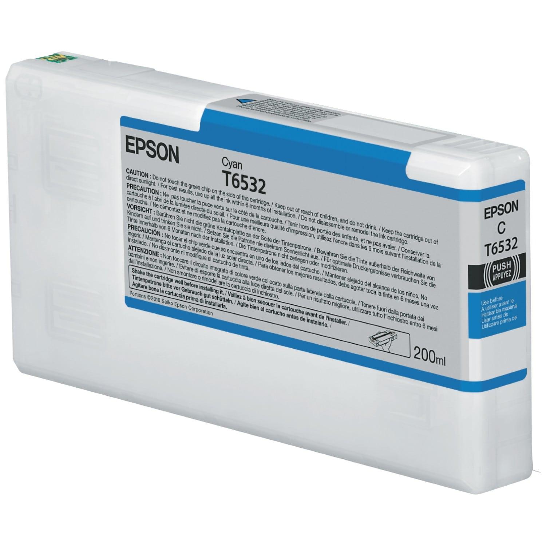 EPSON Cartouche d'encre traceur EPSON T6532 Pour imprimante 4900 Cyan - 200ml
