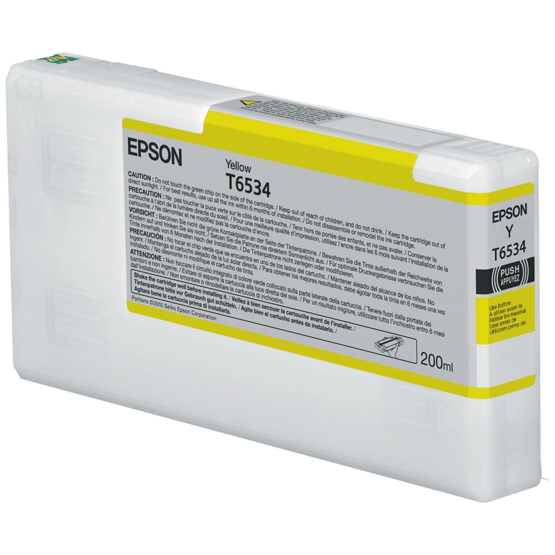 EPSON Cartouche d'encre traceur EPSON T6534 Pour imprimante 4900 Jaune - 200ml