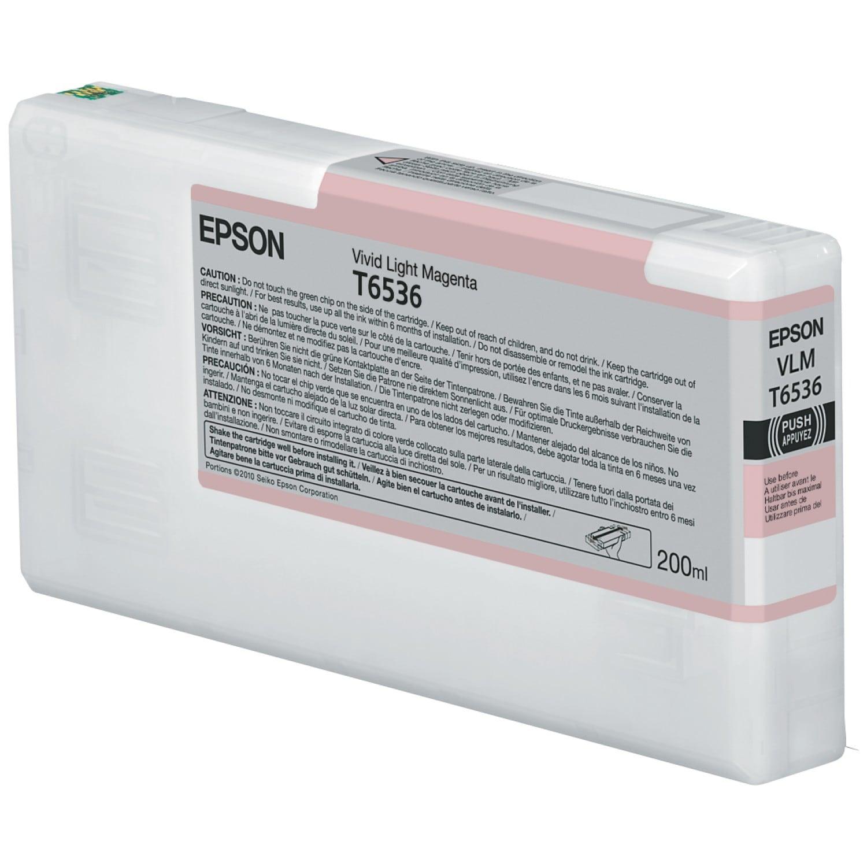 EPSON Cartouche d'encre traceur EPSON T6536 Pour imprimante 4900 Vivid Magenta clair - 200ml