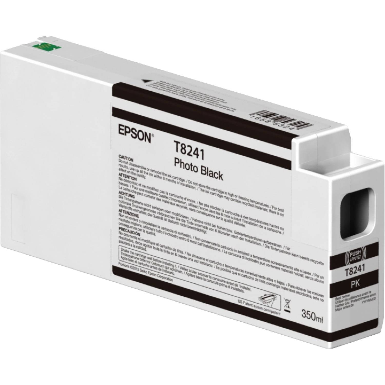 EPSON Cartouche d'encre traceur EPSON T8241 Pour imprimante SC-P6000/7000/7000V/8000/9000/9000V Noir Photo - 350ml