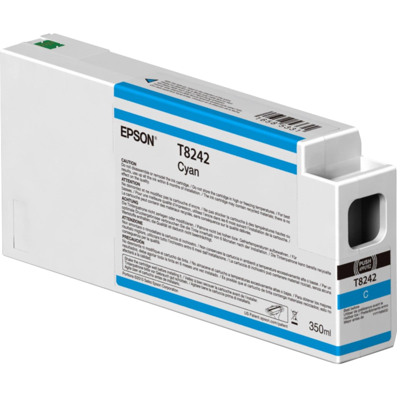 EPSON Cartouche d'encre traceur EPSON T8242 Pour imprimante SC-P6000/7000/7000V/8000/9000/9000V Cyan - 350ml