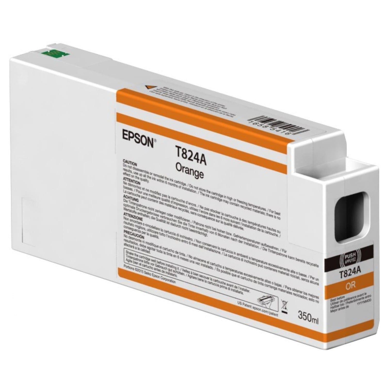 EPSON Cartouche d'encre traceur EPSON T824A Pour imprimante SC-P7000/7000V/9000/9000V Orange - 350ml