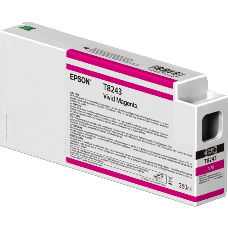 EPSON Cartouche d'encre traceur EPSON T8243 Pour imprimante SC-P6000/7000/7000V8000/9000/9000V Vivid magenta - 350ml