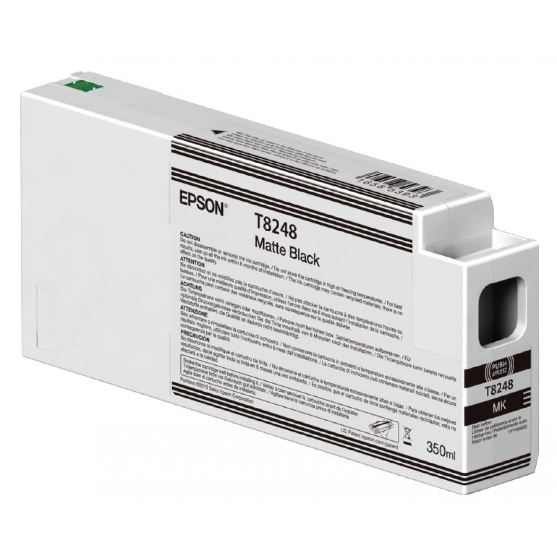 EPSON Cartouche d'encre traceur EPSON T8248 Pour imprimante SC-P6000/7000/7000V/8000/9000/9000V Noir mat - 350ml