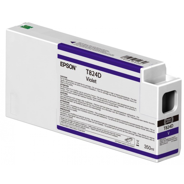 EPSON Cartouche d'encre traceur EPSON T824D Pour imprimante SC-P7000V/9000V Violet - 350ml