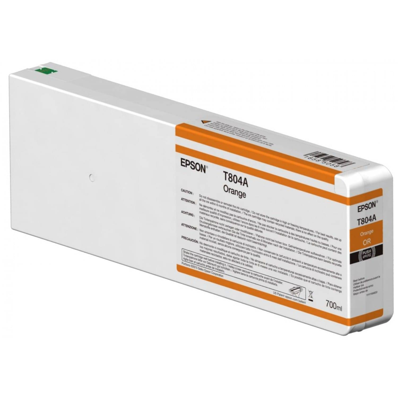EPSON Cartouche d'encre traceur EPSON T804A Pour imprimante SC-P7000/7000V/9000/9000V Orange - 700ml