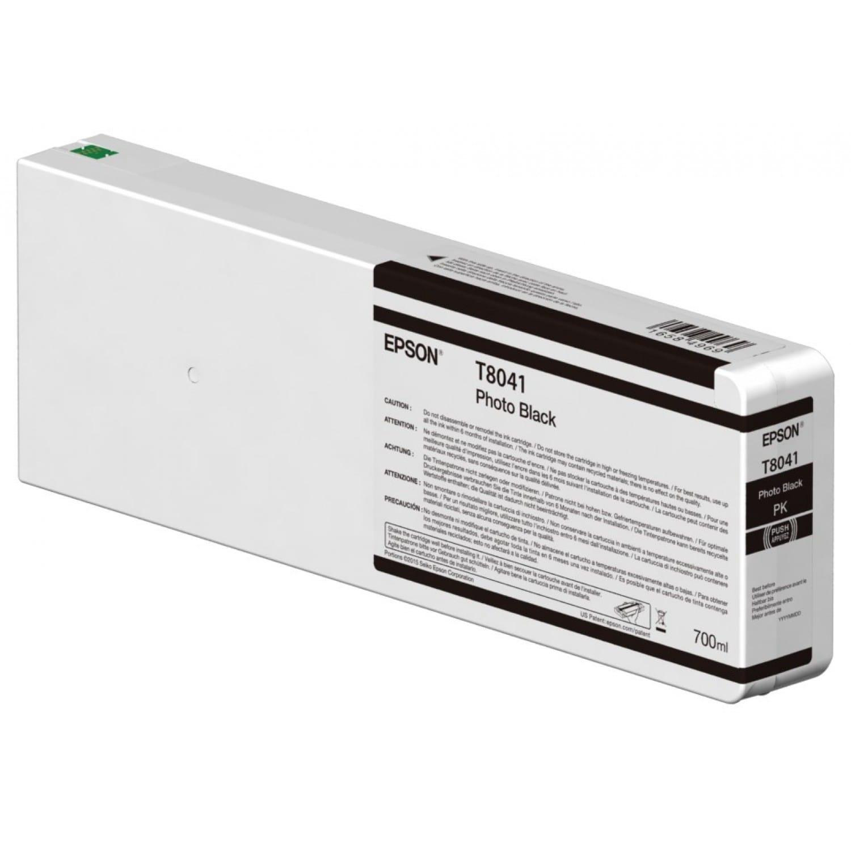 EPSON Cartouche d'encre traceur EPSON T8041 Pour imprimante SC-P6000/7000/7000V8000/9000/9000V Noir Photo - 700ml