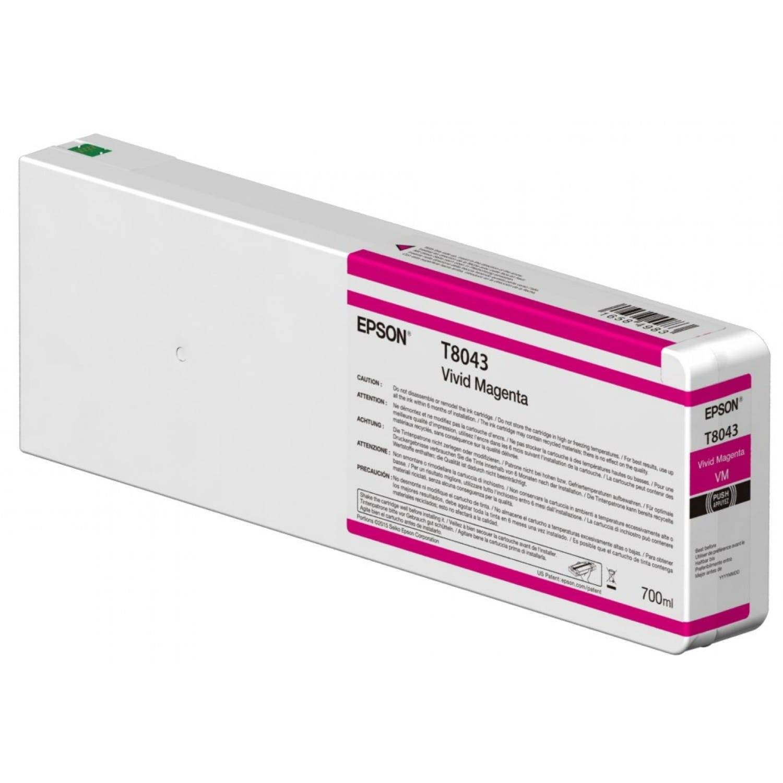 EPSON Cartouche d'encre traceur EPSON T8043 Pour imprimante SC-P6000/7000/7000V/8000/9000/9000V Vivid magenta - 700ml