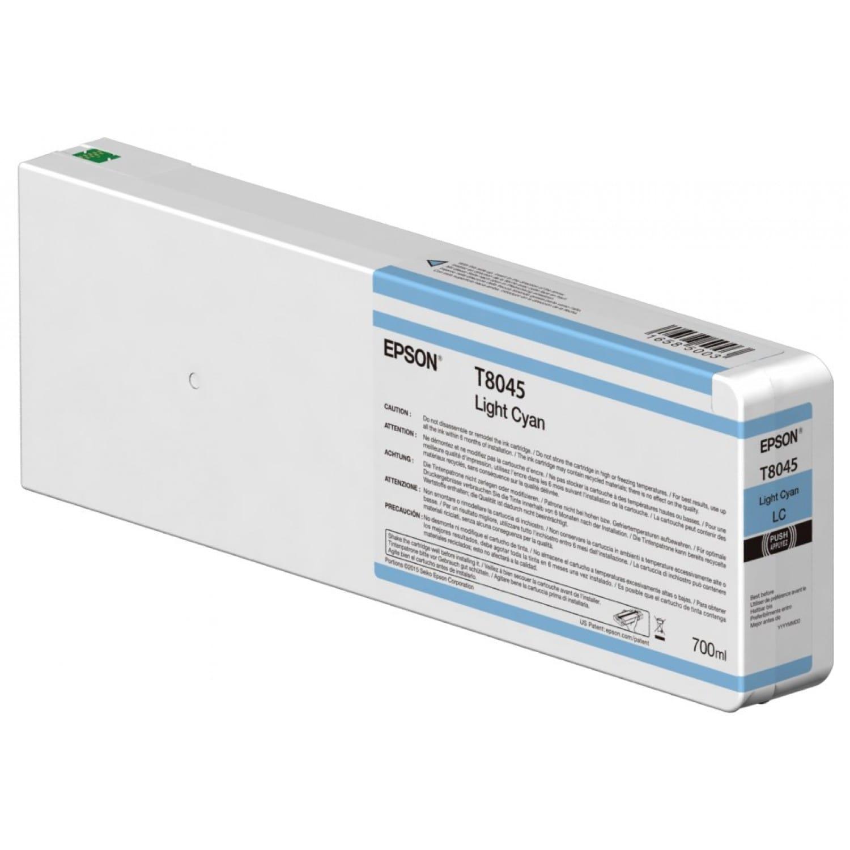 EPSON Cartouche d'encre traceur EPSON T8045 Pour imprimante SC-P6000/7000/7000V/8000/9000/9000V Light cyan - 700ml
