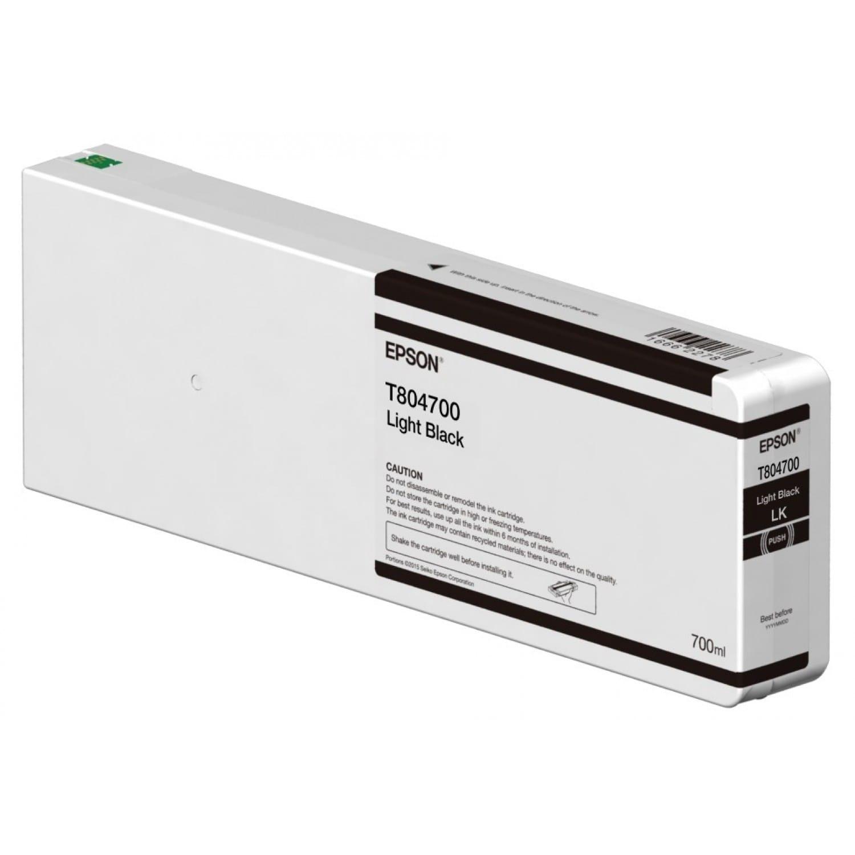 EPSON Cartouche d'encre traceur EPSON T8047 Pour imprimante SC-P6000/7000/7000V/8000/9000/9000V Light noir - 700ml