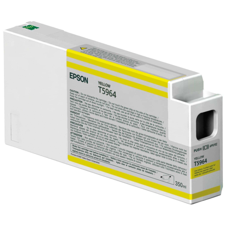 EPSON Cartouche d'encre traceur EPSON T5964 Pour imprimante 7700/9700/7890/9890/7900/9900 Jaune - 350ml