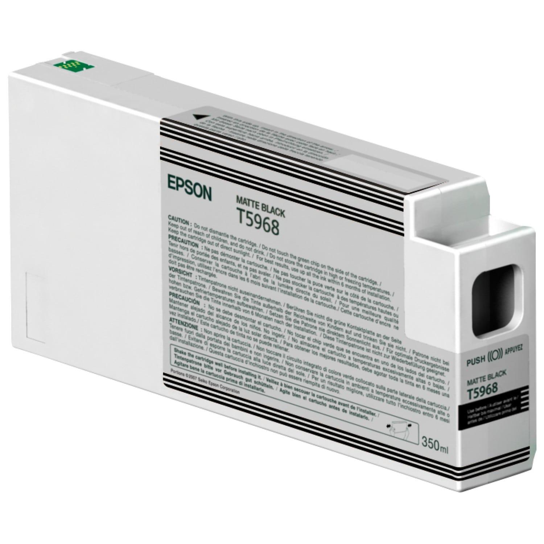 EPSON Cartouche d'encre traceur EPSON T5968 Pour imprimante 7700/9700/7890/9890/7900/9900 Noir mat - 350ml