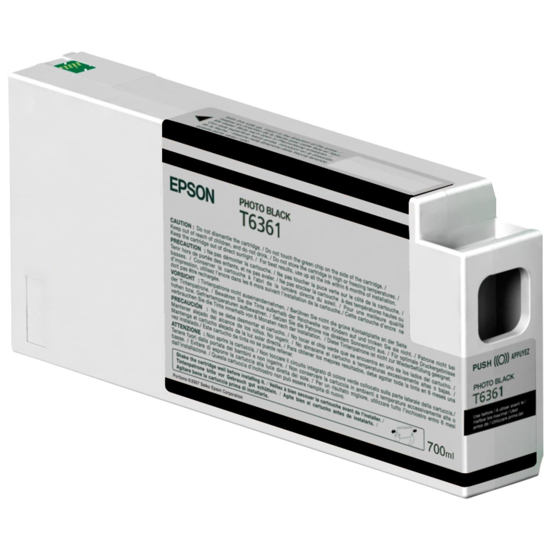 EPSON Cartouche d'encre traceur EPSON T6361 Pour imprimante 7700/9700/7890/9890/7900/9900 Noir Photo - 700ml