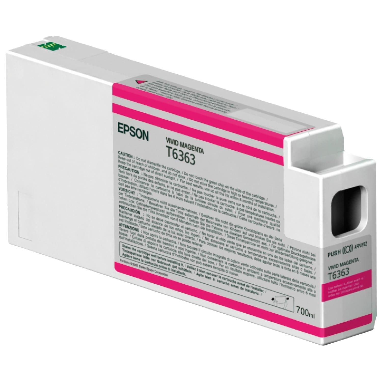 EPSON Cartouche d'encre traceur EPSON T6363 Pour imprimante 7700/9700/7890/9890/7900/9900 Vivid Magenta - 700ml
