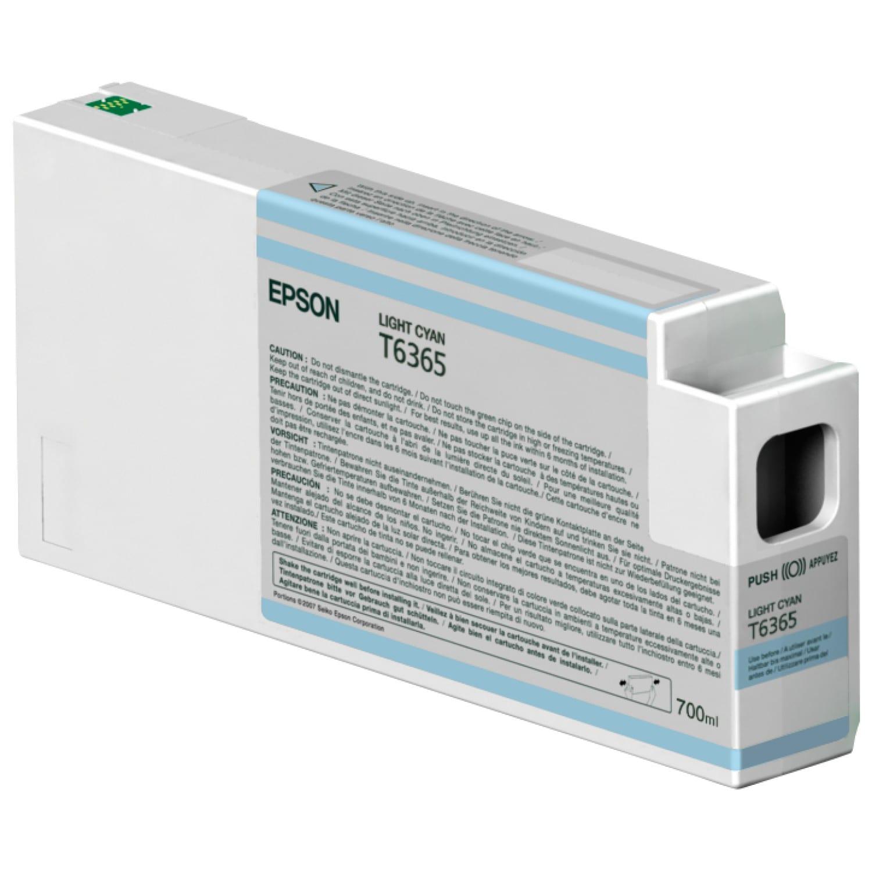 EPSON Cartouche d'encre traceur EPSON T6365 Pour imprimante 7890/9890/7900/9900 Cyan clair - 700ml