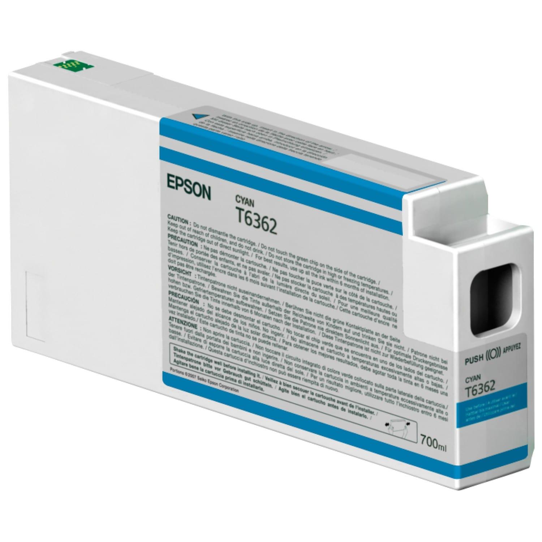EPSON Cartouche d'encre traceur EPSON T6362 Pour imprimante 7700/9700/7890/9890/7900/9900 Cyan - 700ml