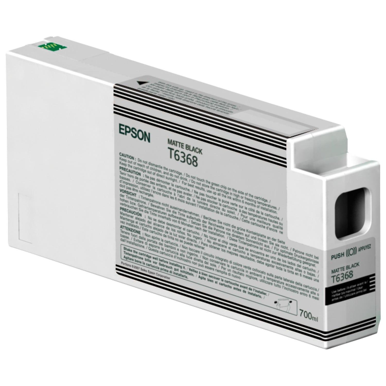 EPSON Cartouche d'encre traceur EPSON T6368 Pour imprimante 7700/9700/7890/9890/7900/9900 Noir mat - 700ml