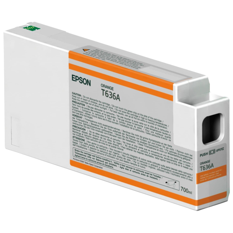EPSON Cartouche d'encre traceur EPSON T636A Pour imprimante 7900/9900 Orange - 700ml