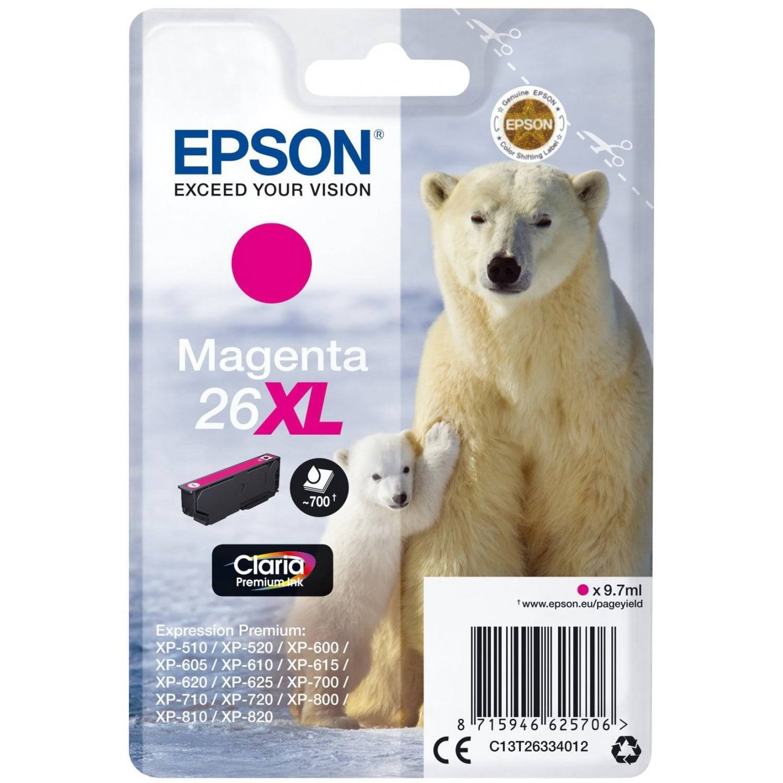 EPSON Cartouche d'encre EPSON T263340 Ours Polaire n°26 - Magenta XL