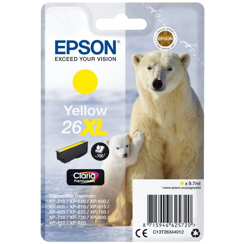 EPSON Cartouche d'encre EPSON T263440 Ours Polaire n°26 - Jaune XL