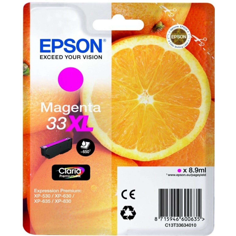 EPSON Cartouche d'encre EPSON T336340 Oranges n°33 - Magenta XL