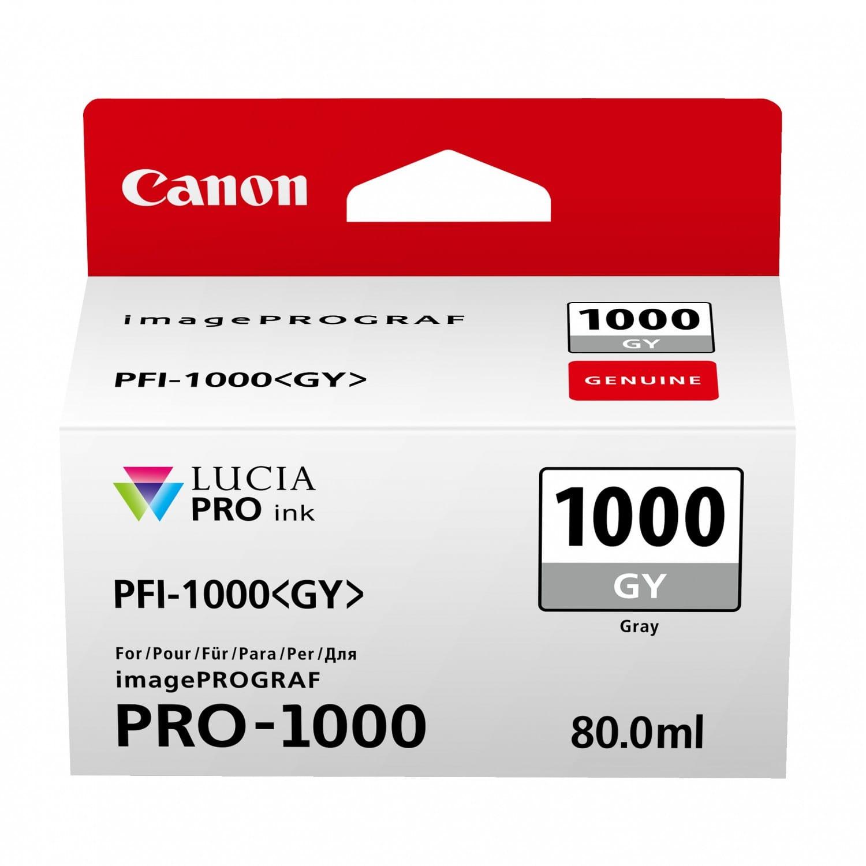 CANON Cartouche d'encre traceur CANON PFI-1000GY gris pour Prograf Pro-1000 (80ml)
