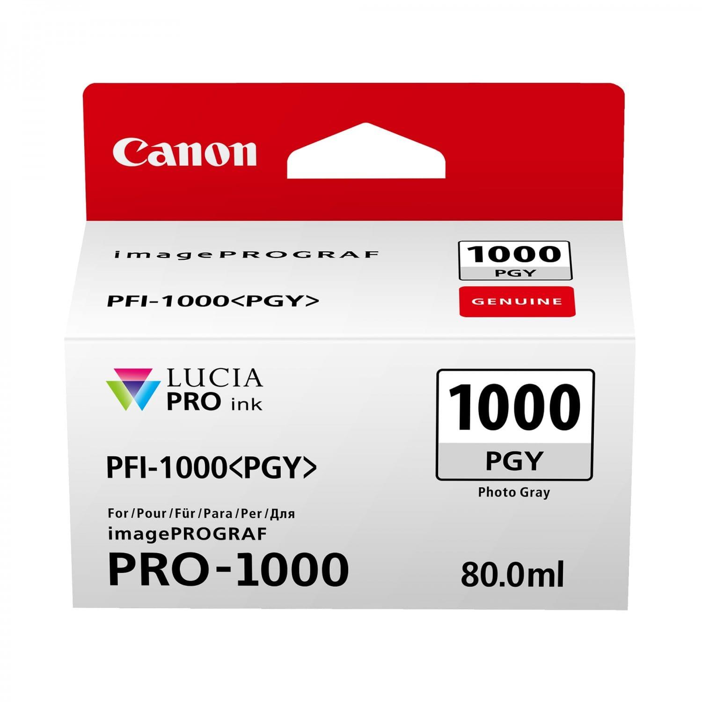 CANON Cartouche d'encre traceur CANON PFI-1000PGY photo gris pour Prograf Pro-1000 (80ml)